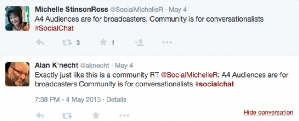#SocialChat is a twitter chat revolved around all things social media.